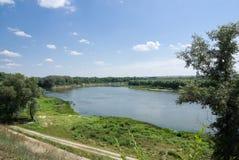 Trek Rivier in Veshenskaya aan Stock Afbeeldingen