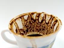 Trek ` t zorgen aan voor de koffiekop na het drinken van Turkse koffie stock foto's