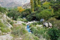 Trek van Cascadas del Rio Colorado Stock Afbeeldingen