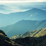 Trek van de berg stock afbeeldingen