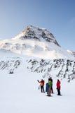 Trek van de winter Gids Royalty-vrije Stock Foto's