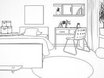 Trek van moderne childroom stock illustratie