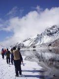 Trek van Sikkim Kanchenjunga Stock Afbeeldingen