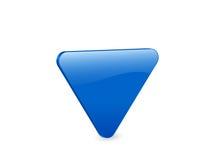 trekantig blå symbol 3d Royaltyfri Bild