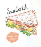 trekantig smörgås Vektor Illustrationer