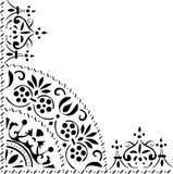 trekantig svart prydnad Royaltyfri Fotografi