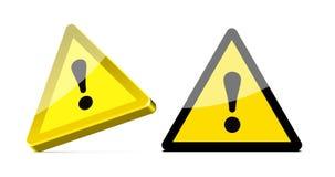 trekantig varning för tecken Arkivfoto