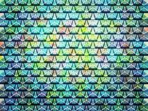 trekantiga mångfärgade modeller Royaltyfri Bild