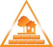 trekantigt konstruktionstecken Royaltyfria Bilder