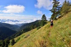 Treking dla Lesser Kaukaz zdjęcie stock