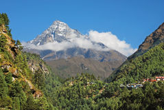 Treking in Himalayas, Nepal. Asia Royalty Free Stock Photography