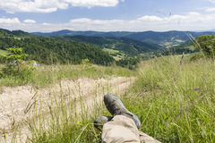 Treking shoes Royalty Free Stock Images