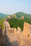 Treking and walking The Great Wall. Beijing , China Royalty Free Stock Photo