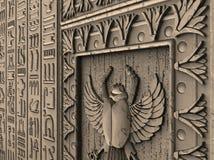 Trekkend voor uitgave, embleem, wapenschild, zaken, amulet, voorspelling, toekomst, houten decoratie, artefact die, binnenland, s stock illustratie