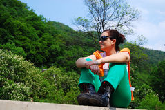 Trekker em Herculane Foto de Stock Royalty Free