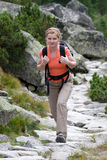 Trekker femelle Images libres de droits