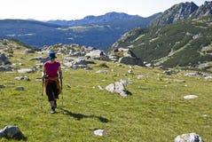 Trekker girl Royalty Free Stock Photo