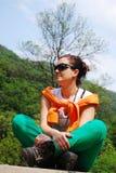Trekker girl Stock Photography
