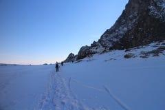Trekker in Mala Studena dolina valley, High Tatras Stock Photography