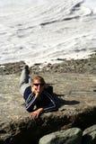 Trekker Relaxing royalty free stock photos