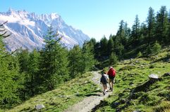 Trekkers photo libre de droits
