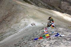 Trekkers auf Ganda-La Durchlauf Lizenzfreies Stockbild