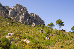 Trekkers in der Altea-Region, Spanien Lizenzfreies Stockfoto