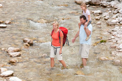 Trekkers - Familie auf Wanderung Stockfoto