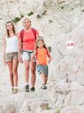 Trekkers - family on trek Stock Photos