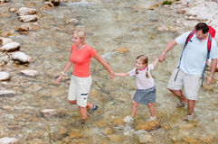 Trekkers - family on trek Stock Photos