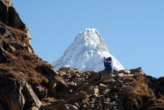 Trekkers - fotografo Immagini Stock