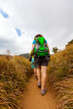 Trekkers on Horton Plains Royalty Free Stock Images