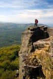 Trekkers in Vihorlat Mountains Royalty Free Stock Images