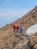 Trekking в Гималаях Стоковая Фотография RF