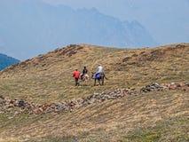 Trekking в Гималаях Стоковые Фотографии RF