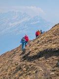 Trekking в Гималаях Стоковые Изображения