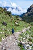 Trekking в горах, Перу, Южная Америка стоковые изображения rf