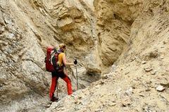 Trekking в горах Karakorum около города Leh стоковое фото rf