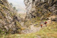 Trekking в горах Mehedinti в осени Стоковые Фотографии RF