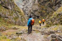 Trekking в горах Mehedinti в осени Стоковое Фото