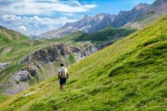 Trekking в испанских Пиренеи Стоковые Изображения RF