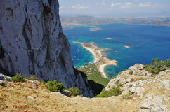 Trekking в Сардинии: к саммиту острова Tavolara Стоковая Фотография