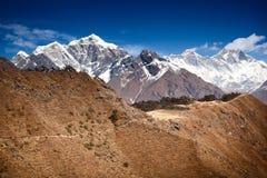 Trekking в SoluKhumbu Стоковое Изображение RF