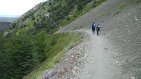 Trekking в Torres del Paine, Чили стоковые изображения rf