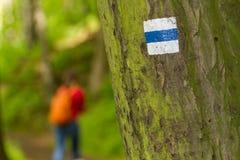 Trekking знак Стоковая Фотография RF
