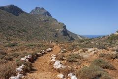 Trekking на Gramvoussa, Крит стоковое фото rf