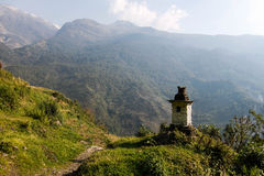 Trekking на hillPoonв Непале Стоковое фото RF