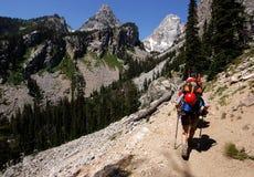 Trekking Imagens de Stock