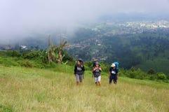 trekking stockfotos