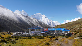 Гималайские горы Trekking Стоковые Фотографии RF